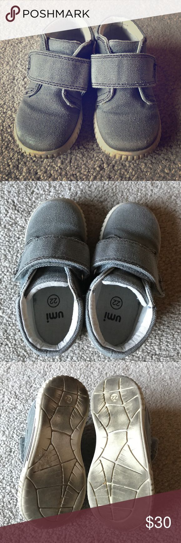 Umi Bodi D Boot Gently used Bodi D boot from Umi is one kids boot that is perfect for any occasion! It is durable for those play dates and dressy enough for a special event! Slight scuffing on the front but in good condition otherwise. EU 22/ US 6.5 Toddler. Umi Shoes Boots