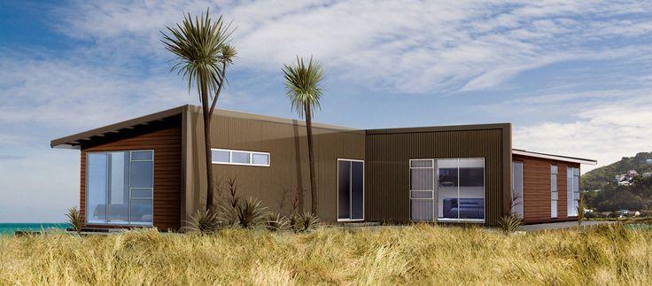 Matrix Homes NZ: Modular Wood-framed House With Timber