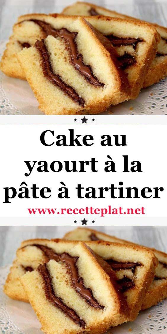 Cake au yaourt à la pâte à tartiner