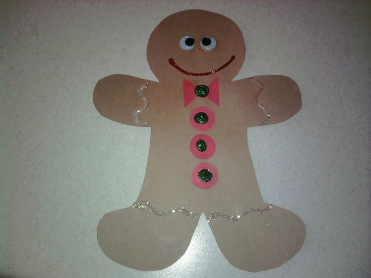 Gingerbread man craft preschool craft preschool for Gingerbread crafts for kindergarten