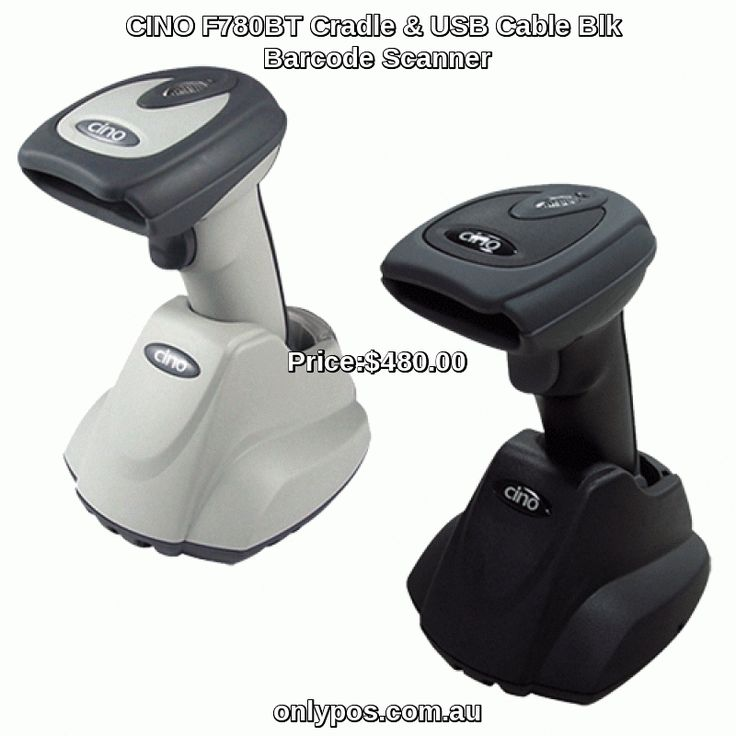 CINO F780BT /w Smart Comms Cradle & USB Cable Blk Barcode Scanner