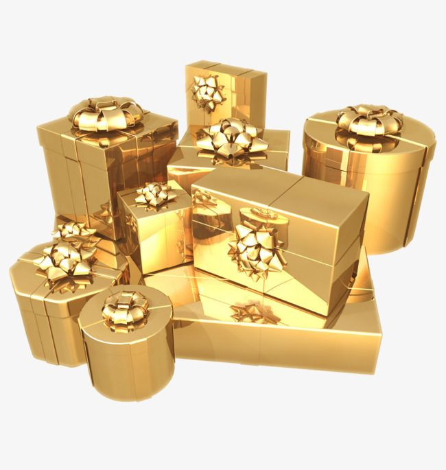 Gold Box Golden Box Creative Png Transparent Clipart Image And Psd File For Free Download Gold Gifts Gold Aesthetic Gifts