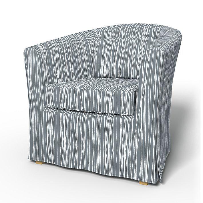 Tullsta, Armchair Covers, Armchair, Regular Fit using the fabric Japan Grey