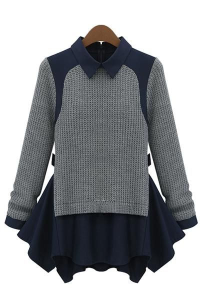 New Western Fashion Turtleneck Hem Stitching Bottoming Sweater