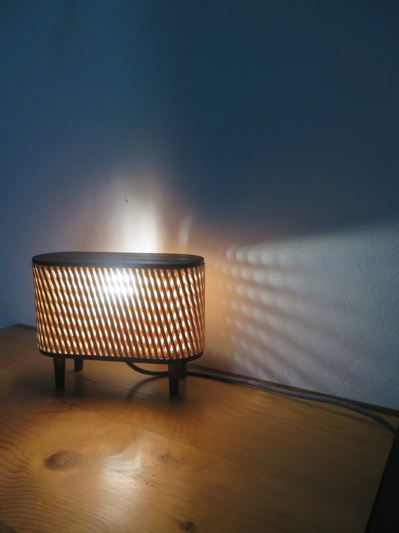 retro style mood/ table  top lamp by PikoHandcrafted on Etsy
