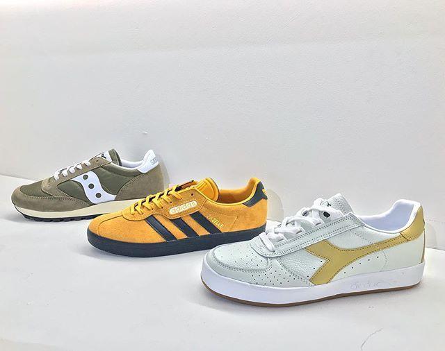 Bona fide classics from Saucony adidas Originals and Diadora: Saucony Jazz Vintage: 70 adidas Gazelle Super: 85 Diadora B.Elite: 75 #saucony #sauconyjazz #sauconyoriginals #adidas #adidasoriginals #adidasgazelle #gazellesuper #diadora #diadoraheritage #elite #bjornborg #classic #trainers #sneakers #sneakerhead #igsneakers #igsneakercommunity #casual #casualstyle #philipbrownemenswear