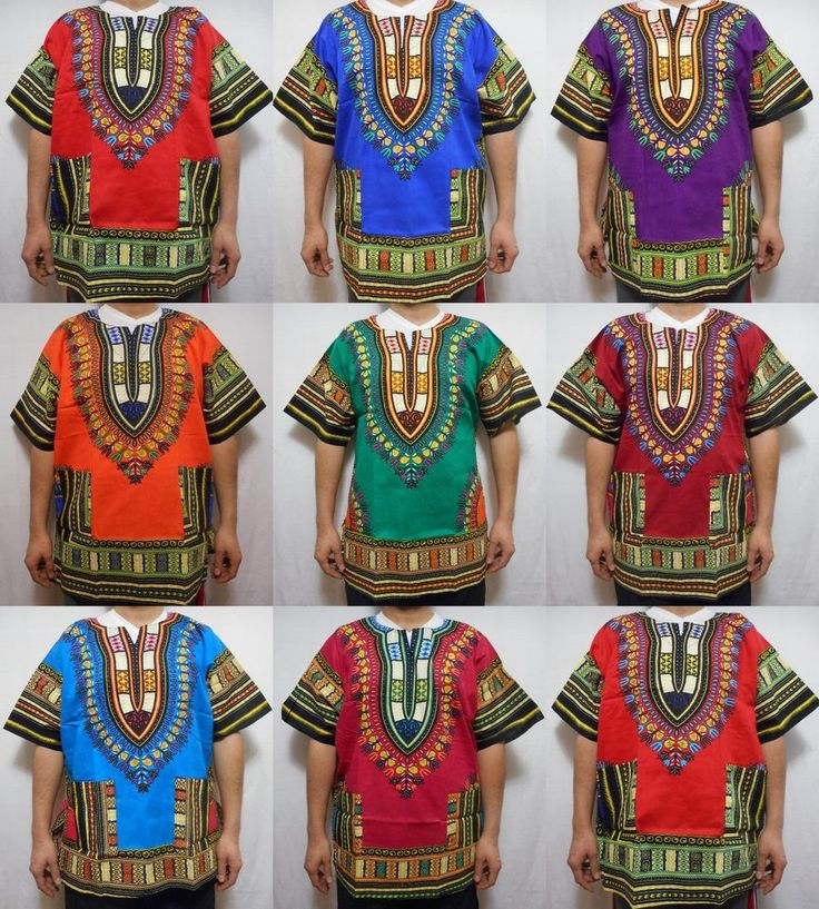 KENTE Dashiki Boho Tribal Shirt African Vintage Hippie Blouse Women Blouse S M L #Handmade #Dashiki