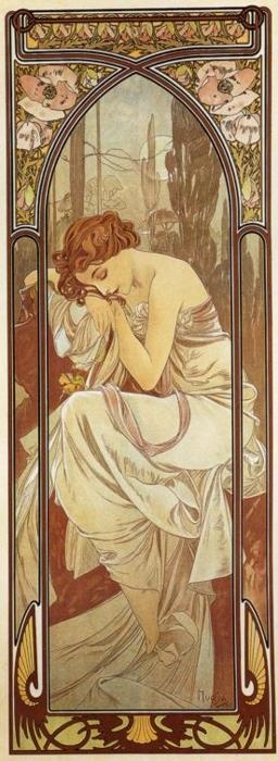 You'll see a lot of Mucha on my pinboards. He's one of my absolute favorite artists.