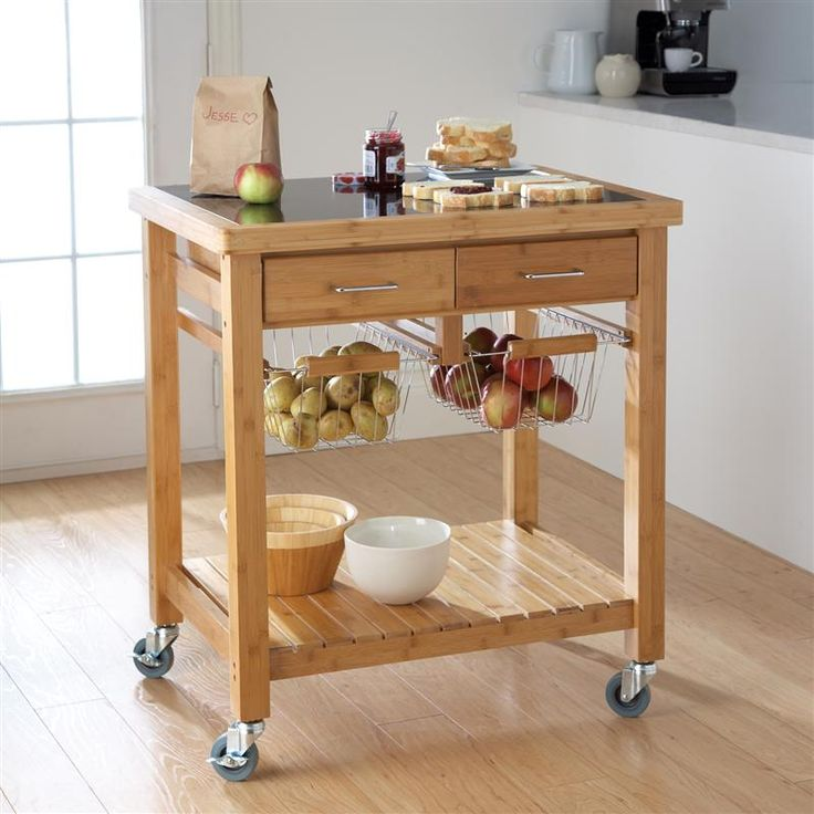 Ksp Natura Bamboo Kitchen Cart 78 X 58 X 86 Cm Natural | Kitchen Stuff Plus   #KSPPin2Win