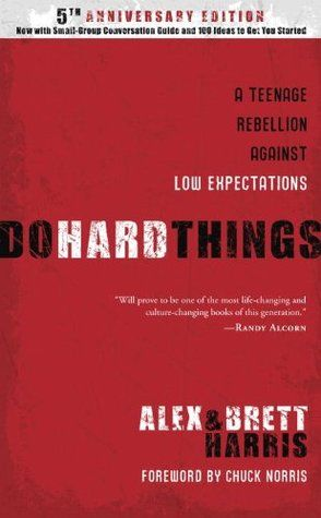 """Do Hard Things: A Teenage Rebellion Against Low Expectations by Alex Harris (Multnomah, 2008 - 9781601421128) Two Christian teenage writers challenge their peers to create a brighter future, combating the idea of adolescence as a vacation from responsibility and providing humorous personal anecdotes, practical examples, and stories of real-life """"rebelutionaries"""" in action. 