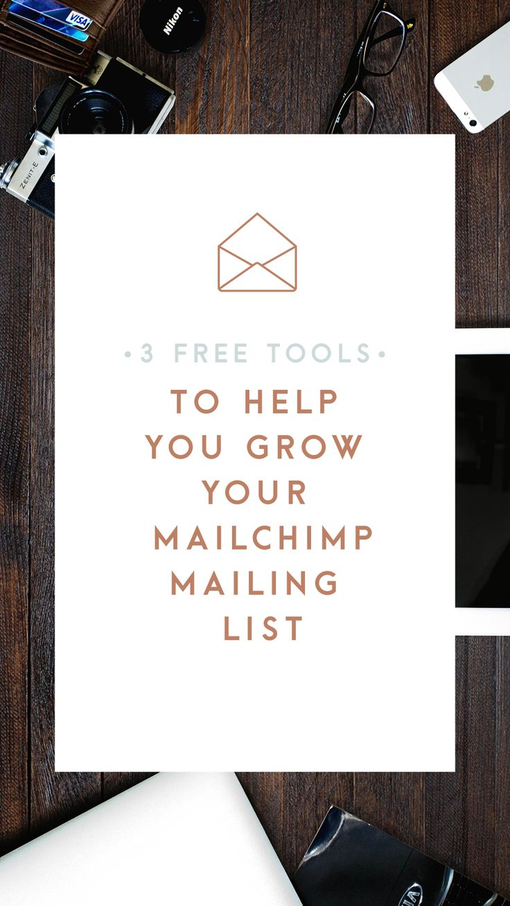 Three great and completely free tools to help you grow your Mailchimp mailing list: how to link Mailchimp with Twitter Cards, Popups and Zapier!