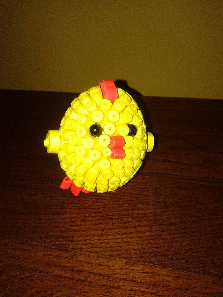 Quillingowy kurczaczek. :)