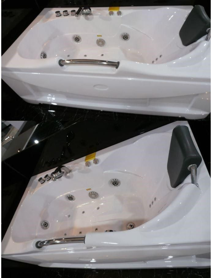Jetted Whirlpool Hydrotherapy Bathtub Tub W Heat Radio Chromatherapy 002a White Jetted Bath Tubs Bathtub Jacuzzi Hot Tub