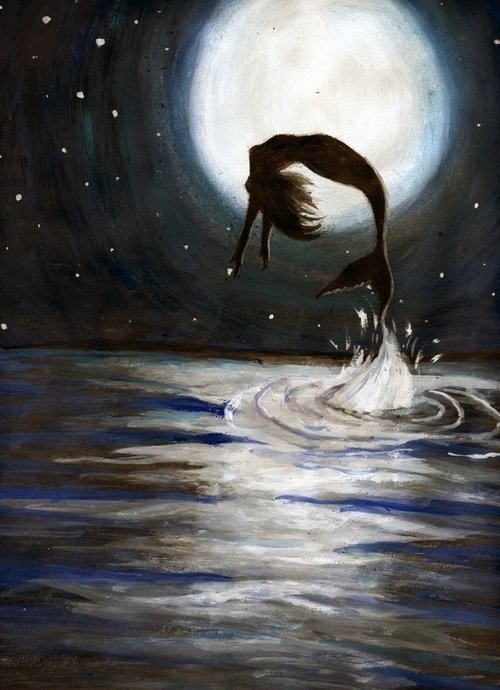 I can still hear the distant splashes in the moon light.