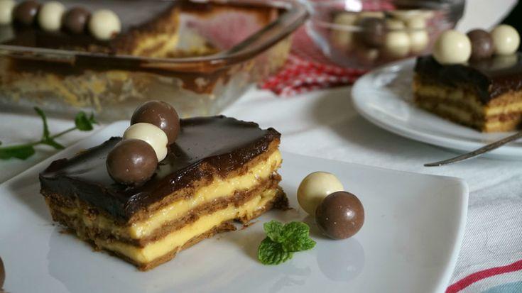 Tarta de la abuela (tarta de galletas con flan)