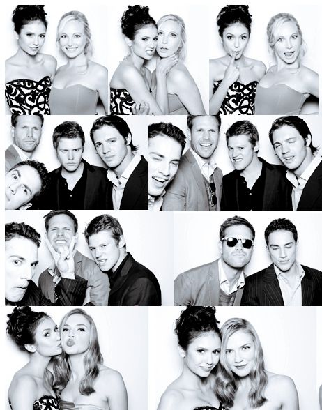 """some of the cast from """"The Vampire Diaries"""" hamming it up for a photo shoot....."""