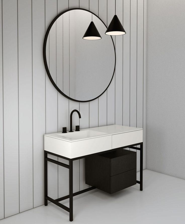Meuble vasque à poser / en bois / en céramique / contemporain MILANO by Andrea Parisio Giuseppe Pezzano Ceramica Cielo