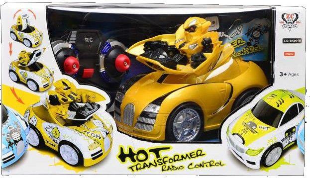 Auto téléguidé Transformers Bumblebee Jaune.  Disponible en boutique ou sur notre catalogue en ligne. Livraison rapide au Québec.  Achetez-le info@laboiteasurprisesdenicolas.ca