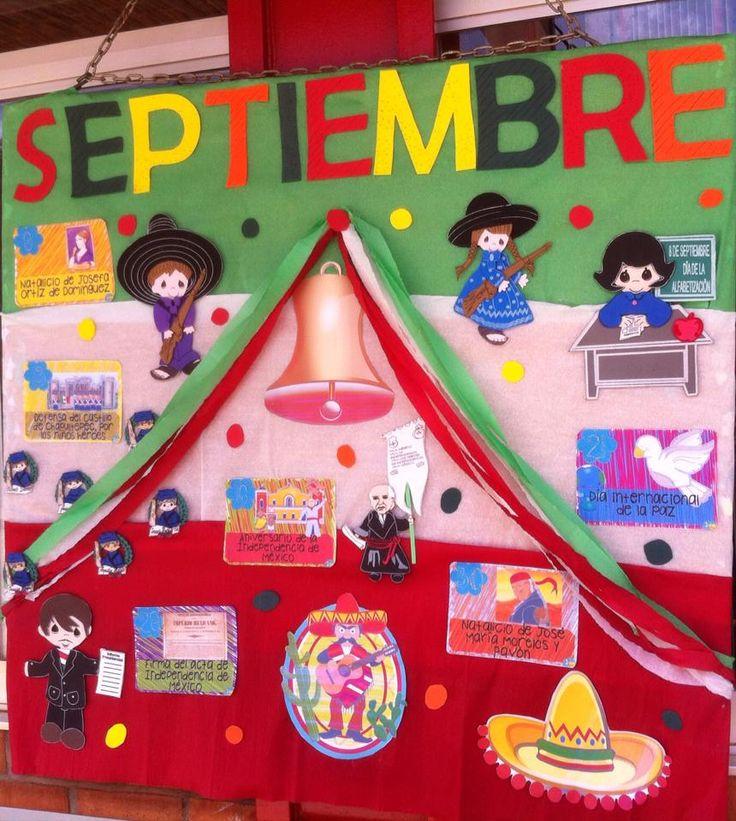 Las 25 mejores ideas sobre periodico mural de septiembre for Deportes para un periodico mural