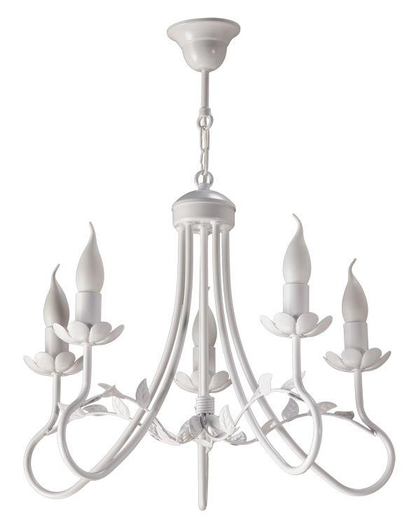 Lampa wisząca FEBA 5  w stylu romantycznym dostępna na naszej stronie www.przystojnelampy.pl   #lampa #wisząca #lamp #lamps #lampy #oświetlenie  #styl romantyczny #romantic #romantyczny #white #biała lampa