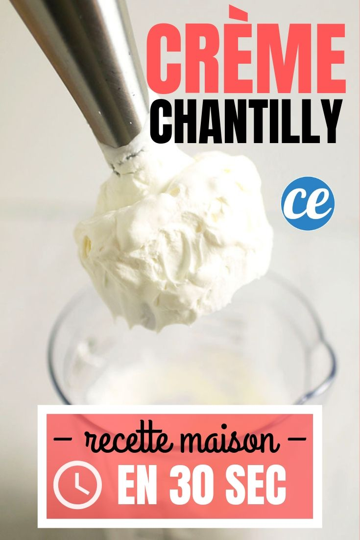 Comment Faire De La Creme Chantilly Maison En 30 Secondes Chrono Recette Creme Chantilly Creme Chantilly Facile Creme Chantilly Maison