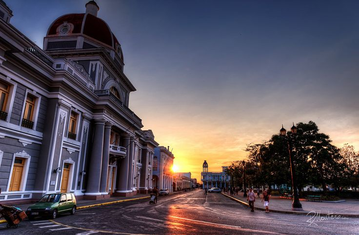 Cienfuegos Government Palace  Want to know more about this photo? Click here and learn my tips  RiccardoMantero.com  High resolution print of this photo available  rmantero.com The Government Palace in Parque Jose Martì in Cienfuegos, Cuba. during one of the beautiful sunset of the island.  For more photos follow me on instagram @riccardo_mantero