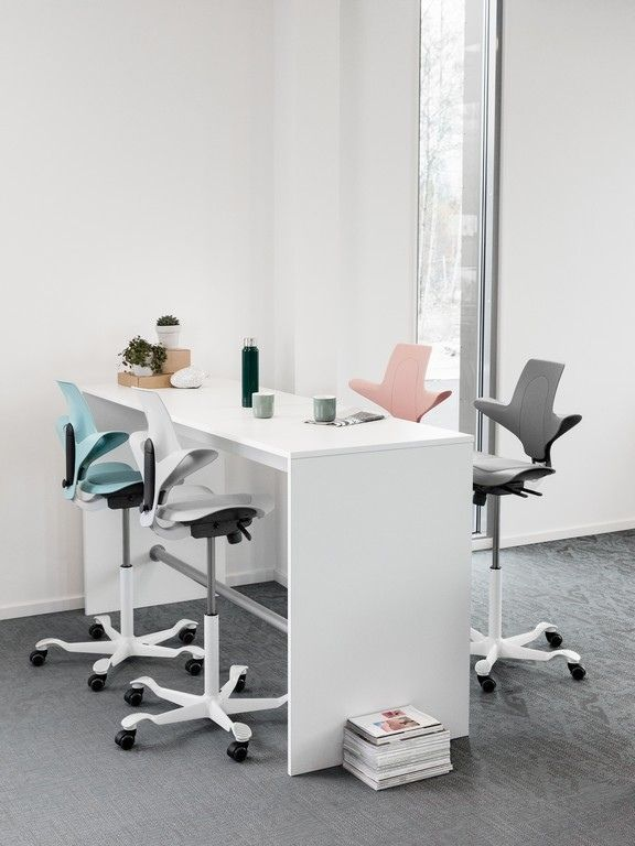 Co Working Space With Futuristic Office Chairs Hag Capisco Puls 8010 In Pastel Colours I 2020