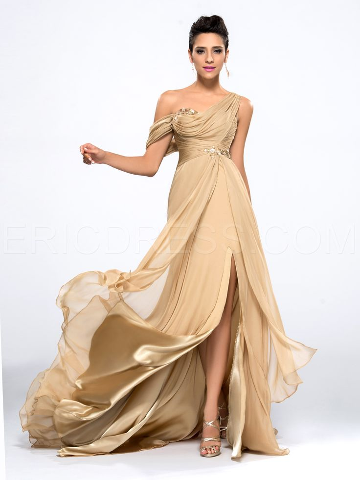 Ericdress One-shoulder Sequins Evening Dress Elegant Evening Dresses- ericdress.com 10990212