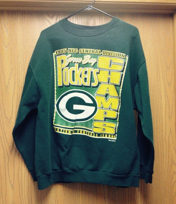 A personal favorite from my Etsy shop https://www.etsy.com/listing/255179917/vintage-green-bay-packers-sweatshirt  Vintage Green Bay Packers Sweatshirt // Size XXL 2X // Retro Packers Sweatshirt // Packer Championship Sweatshirt // Packer Gift
