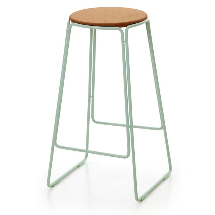 Smed Stool In Mint, Powder Coated Steel Frame With Cork Seat, X X OX Design  And Great Dane Furniture
