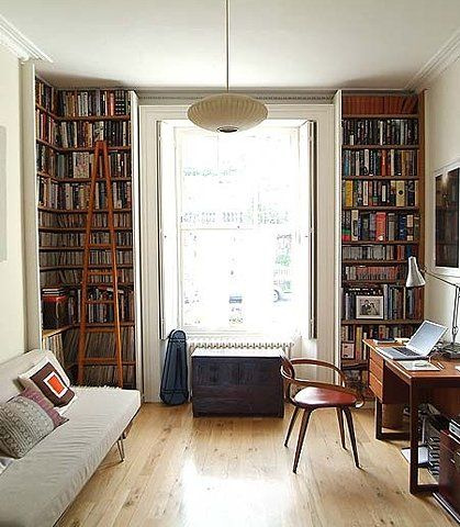 this is a small room. I want my apt aka small room to be so cute. With built-ins!