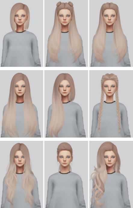 Hairstyles: Hallow Pack2 from Kalewa-a • Sims 4 Downloads