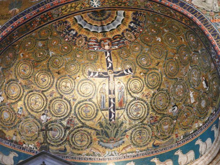 Trionfo della Croce, prima metà del XII sec., S. Clemente, Roma.