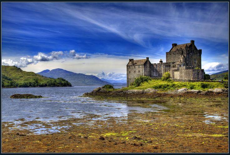 Loch Duich. Замок Эйлен-Донан