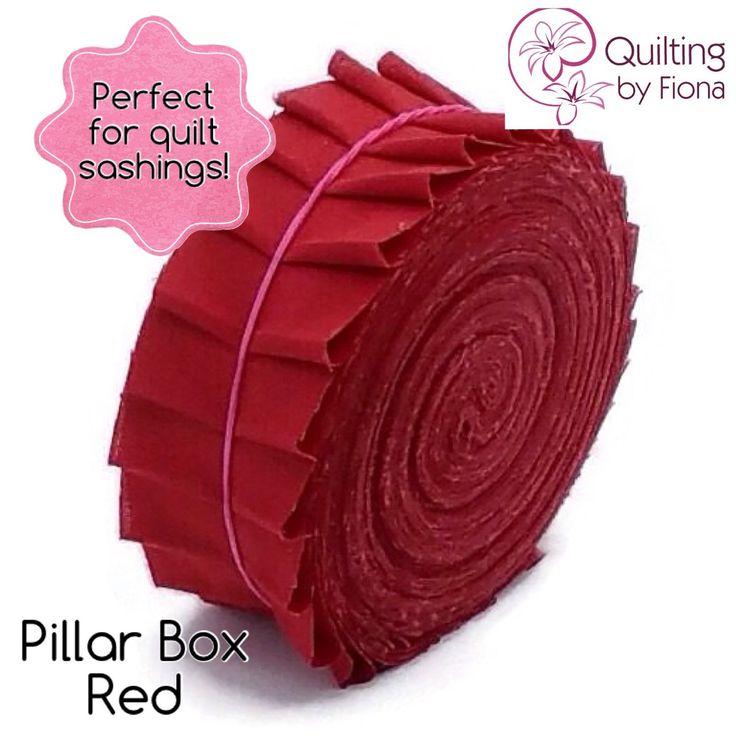 A personal favourite from my Etsy shop https://www.etsy.com/listing/231384572/20-pillar-box-red-precut-honey-bun