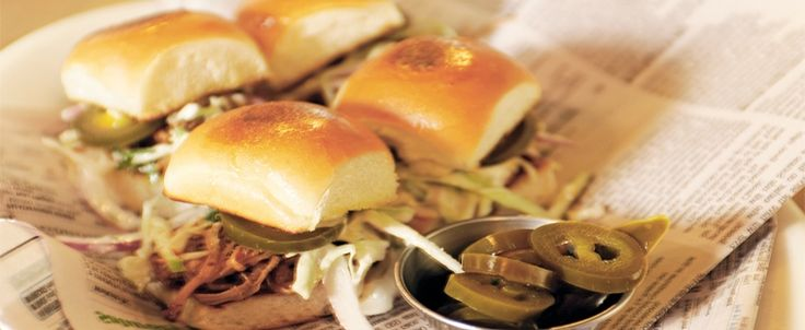 RECIPE: The Swine: Pulled Pork and Apple Slaw Sliders. Brought to you by MiNDFOOD.