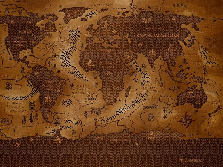 Free HD Wallpapers for your computer: Old world map in sepia