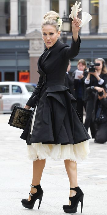 Sarah Jessica Parker's 25 Most Memorable Looks Ever - Alexander McQueen, 2010 from #InStyle