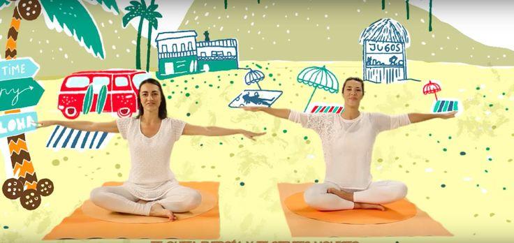 """YOGIC / Yoga para Niños - TUTORIAL """"Canción del Surf"""" - Juegos y cancion..."""