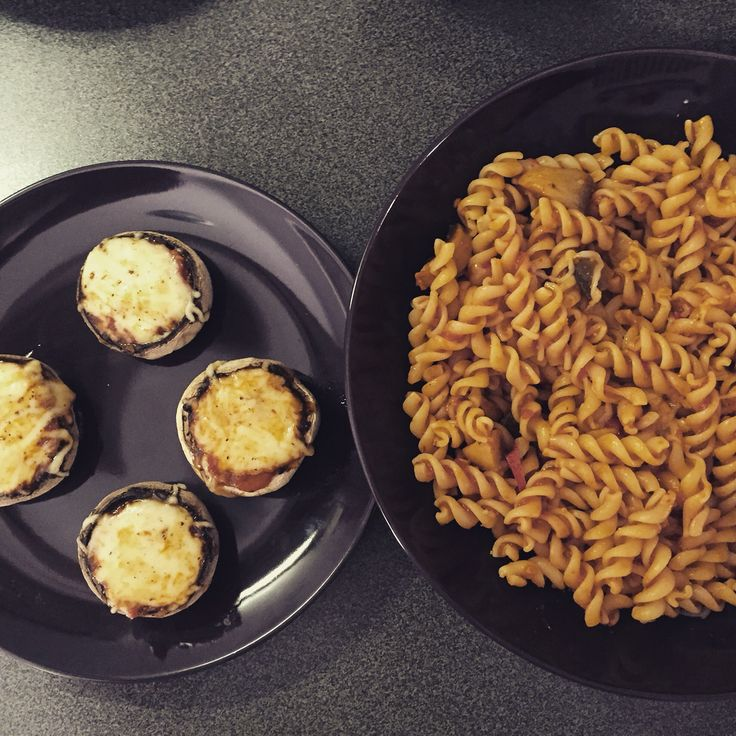 Mushrooms and pasta