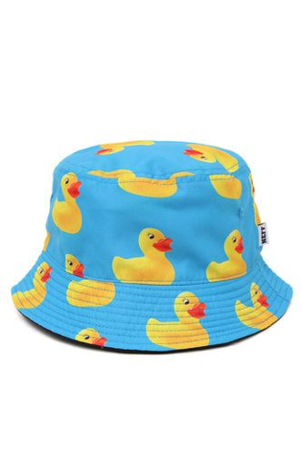 A PacSun.com Online Exclusive! Neff comes with a reversible men's bucket hat found at PacSun. The Ducky Reversible Bucket Hat for men has a rubber duck print on one side, a solid black reverse, and Neff logo loop on the side.   	Allover multi color print reversible bucket hat 	Neff logo loop on brim 	One size fits most 	Spot clean 	100% cotton lining, 100% polyester shell 	Imported
