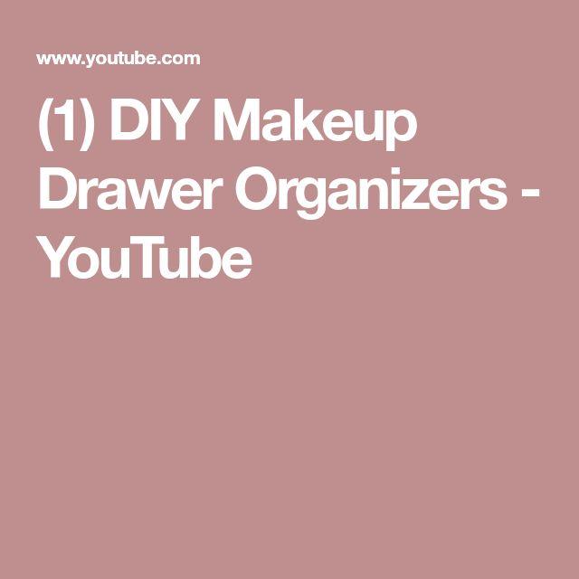 (1) DIY Makeup Drawer Organizers - YouTube