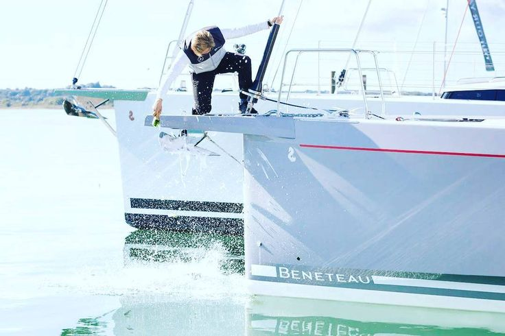 Alex Thomson launching the new Oceanis 51.1 at the Southampton Boat Show  will you be sailing her this summer?