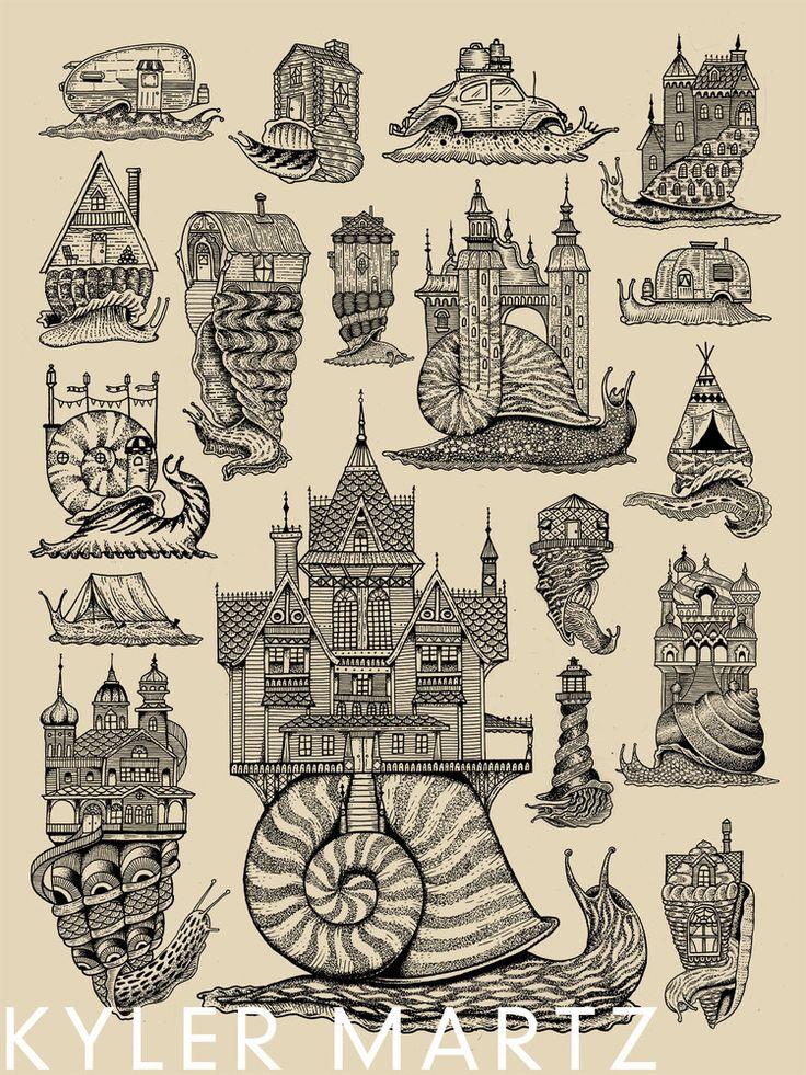 Snail Houses by Kyler Martz