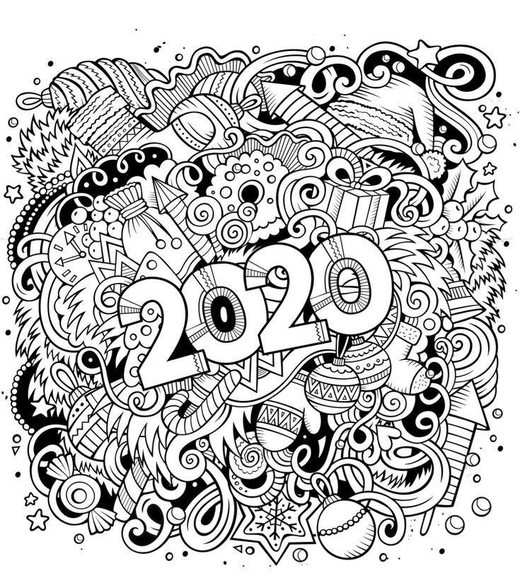 kleurplaat 2020 kleurplaten kerstmis kleuren en handen