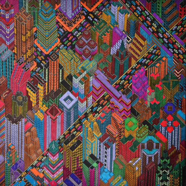 Mamadou Cisse, Untitled, Markers on paper, 2013 | MAMADOU CISSE ...