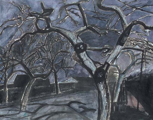 Garden by Moonlight, Edward Bawden. English (1903 - 1989)