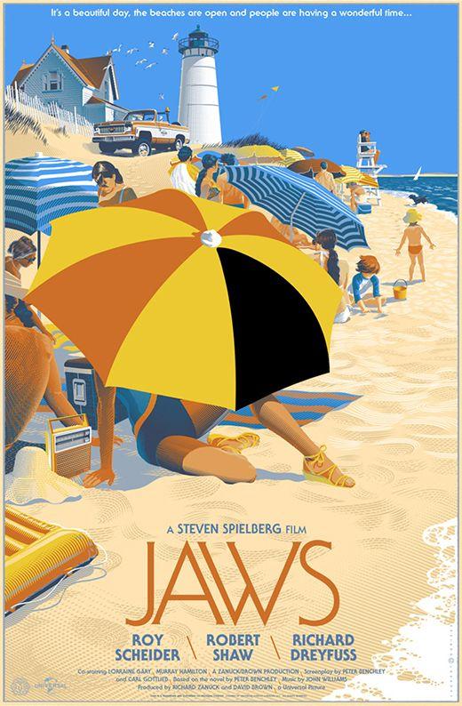 Jaws by Laurent Durieux, via Behance