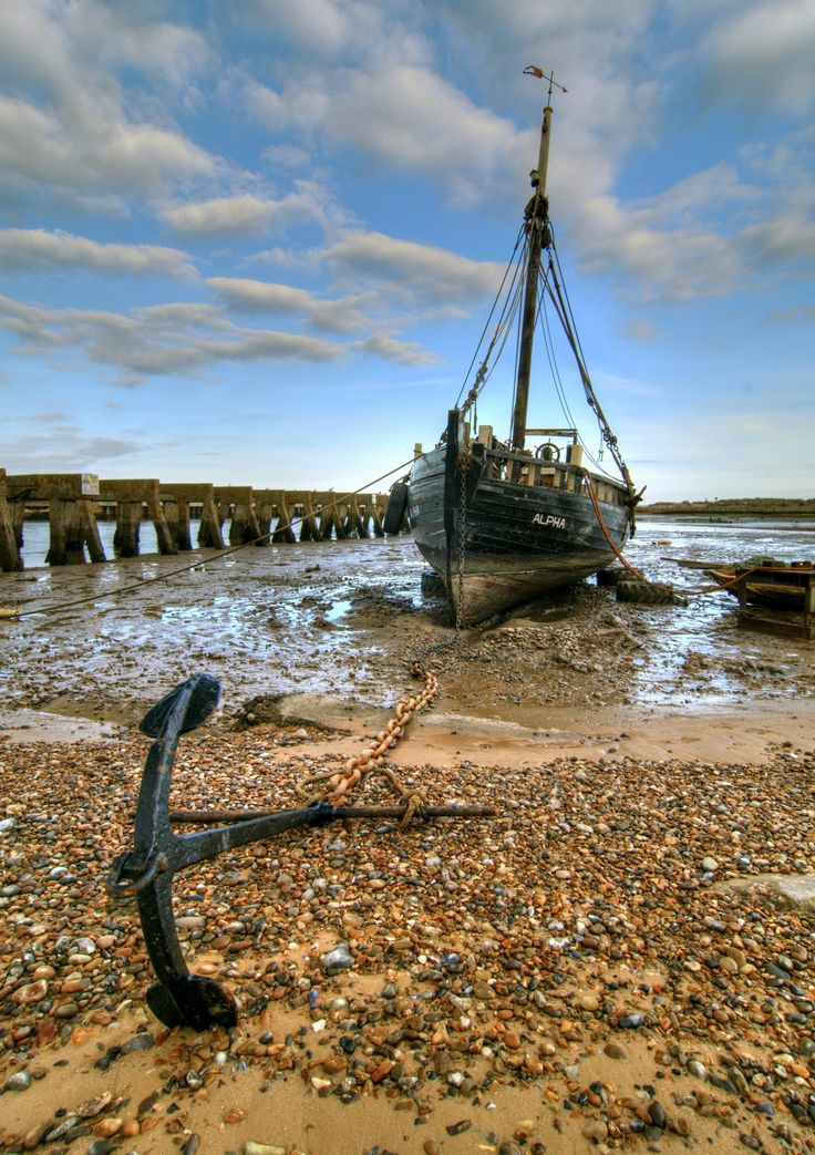 Old boat, Walberswick by Mike Baker