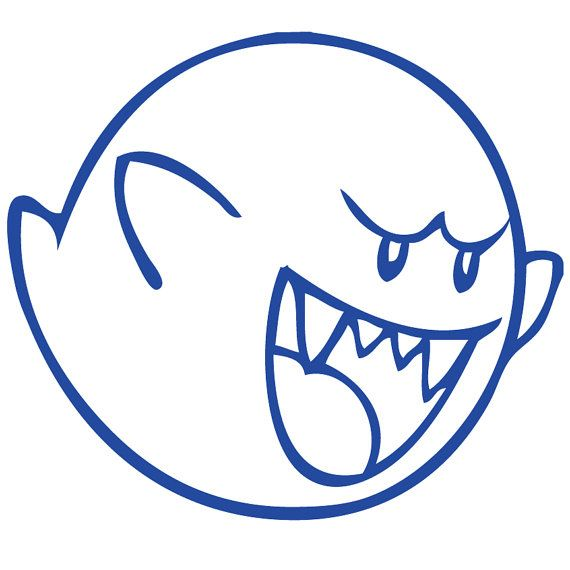 Boo Super Mario Bros Wall Decal   Laptop Decal   by Acherryortwo, $4.99